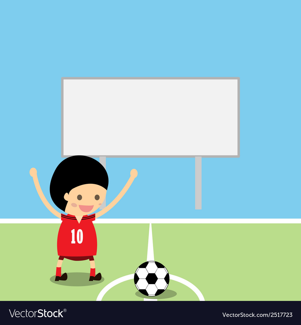 Boy in soccer gear about vector | Price: 1 Credit (USD $1)