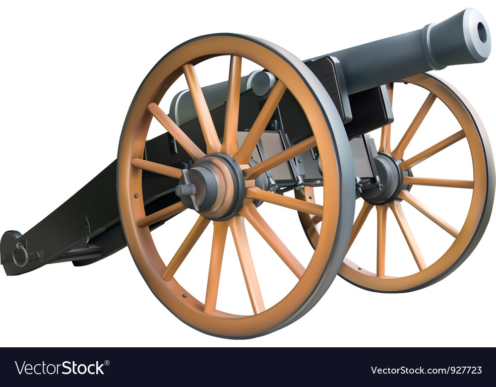 Cannon vector | Price: 3 Credit (USD $3)