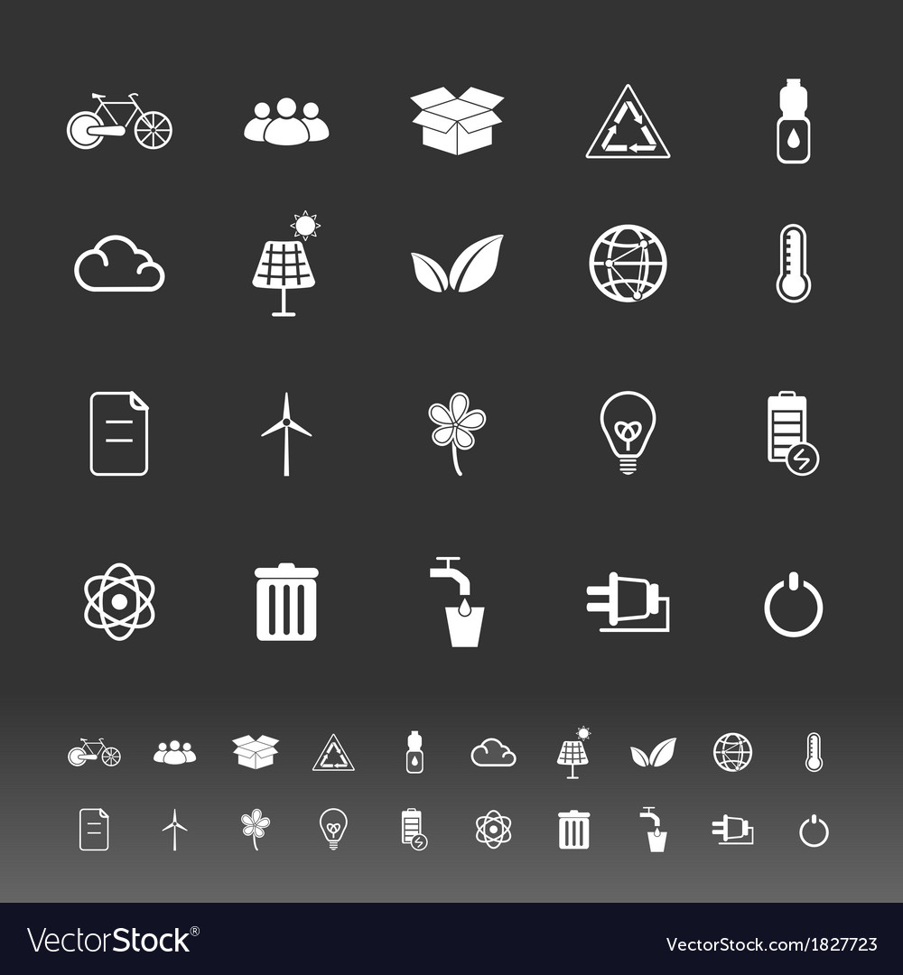 Ecology icons on gray background vector | Price: 1 Credit (USD $1)