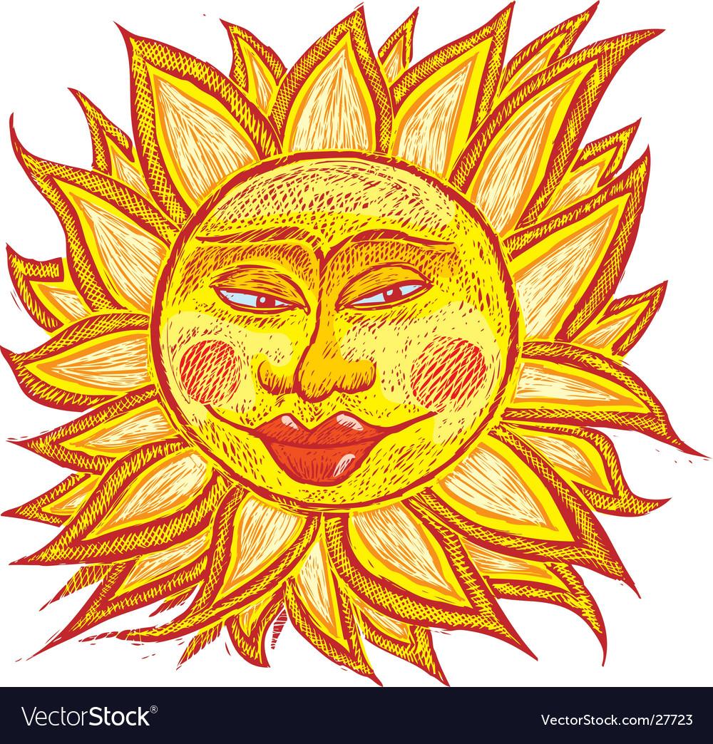 Fat old sun vector | Price: 1 Credit (USD $1)