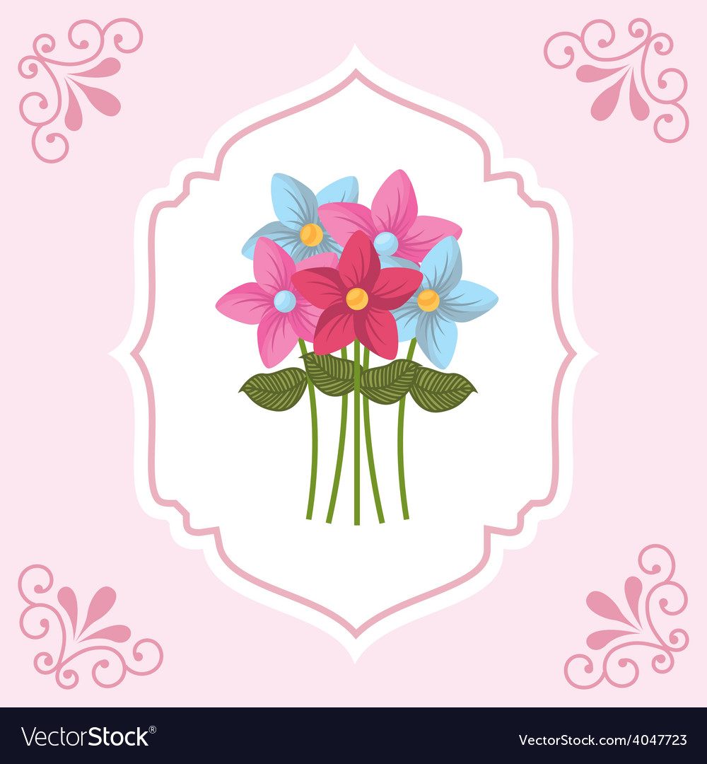 Flowers bouquet vector | Price: 1 Credit (USD $1)