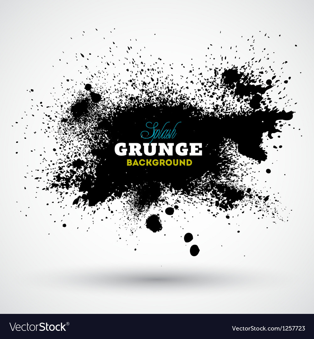 Grunge splash banner vector | Price: 1 Credit (USD $1)