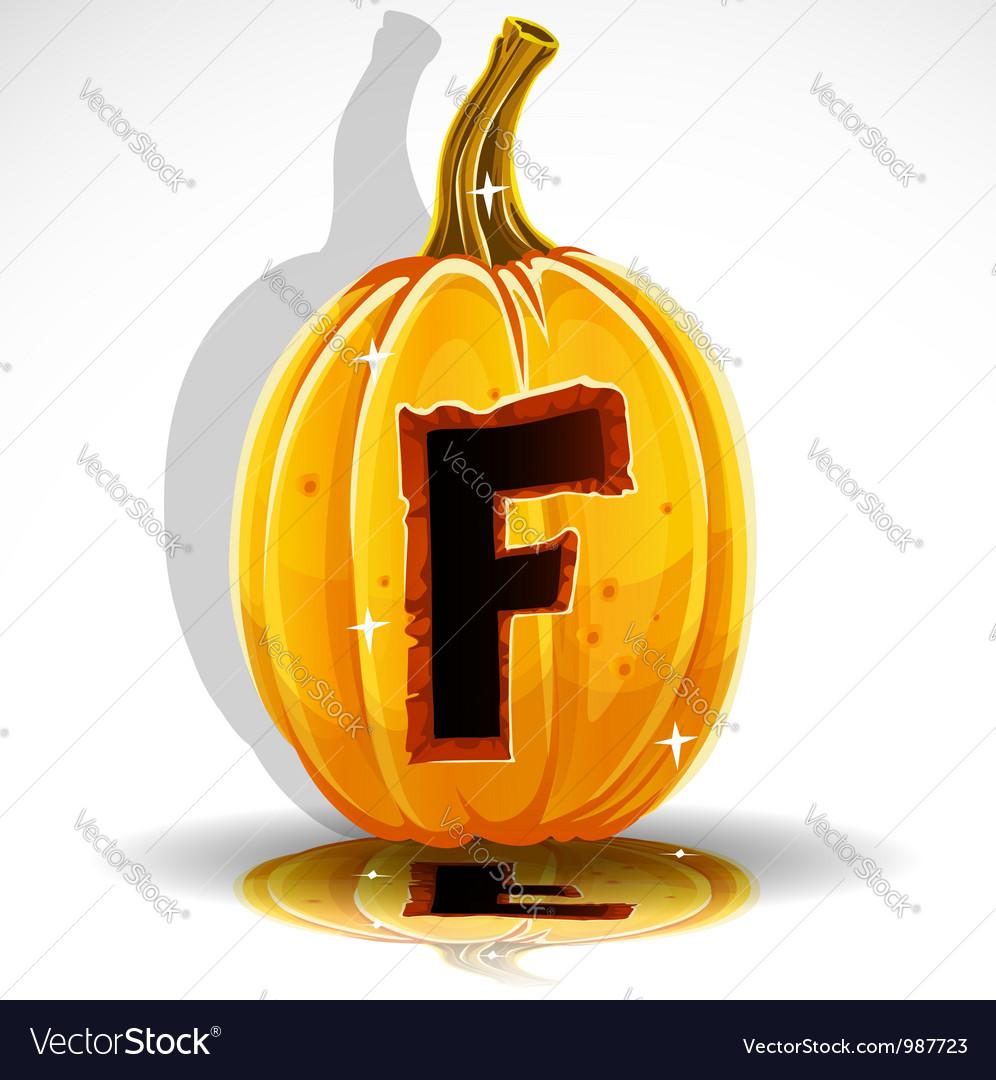 Halloween pumpkin f vector | Price: 1 Credit (USD $1)