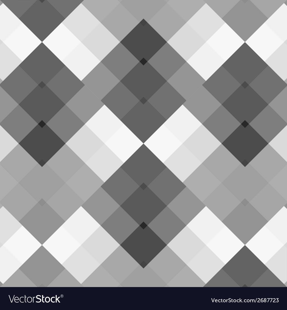 Monochrome gray seamless pattern geometric vector | Price: 1 Credit (USD $1)