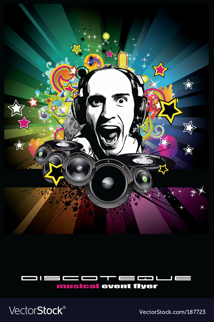 Music event background vector | Price: 3 Credit (USD $3)