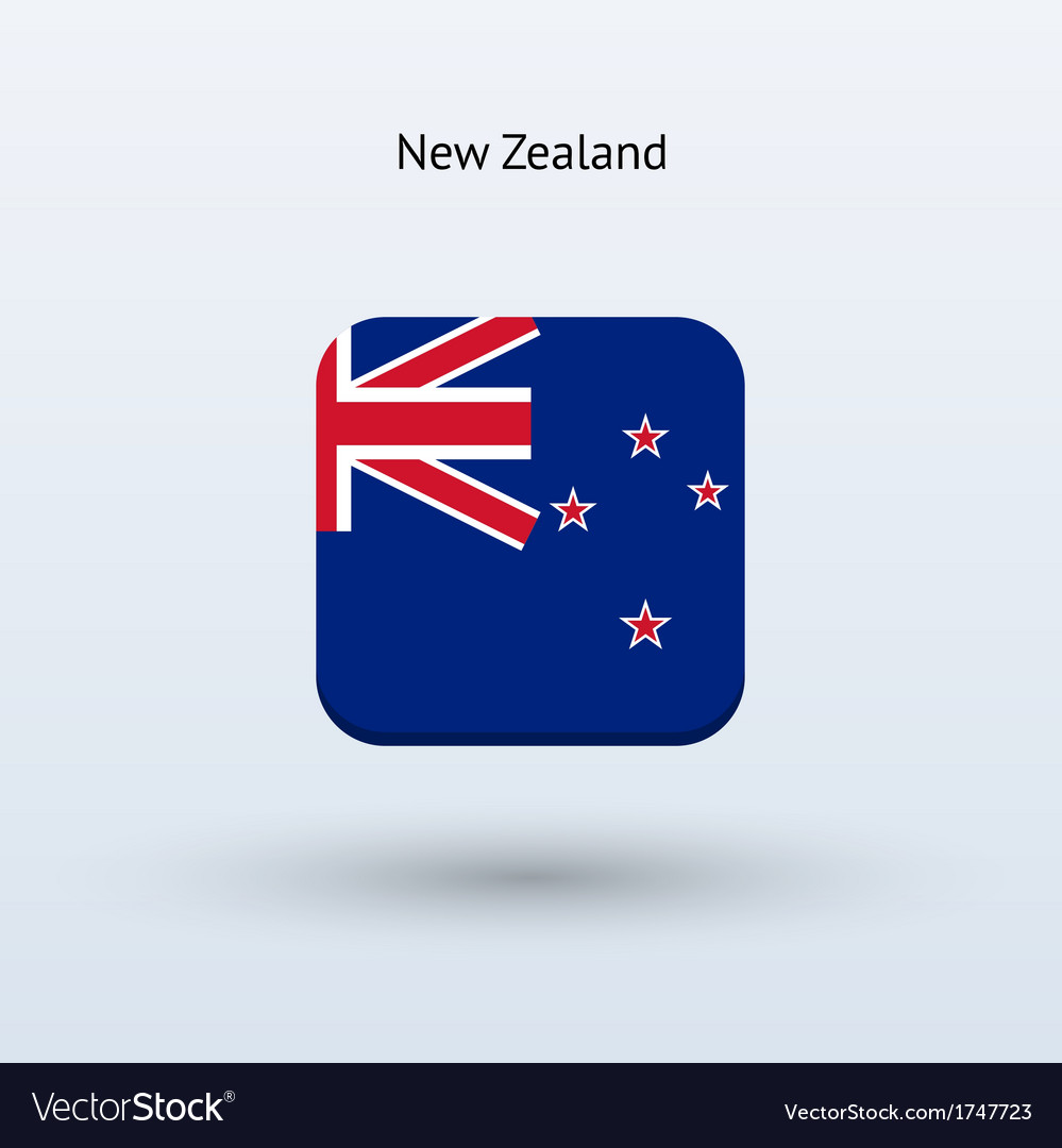 New zealand flag icon vector | Price: 1 Credit (USD $1)
