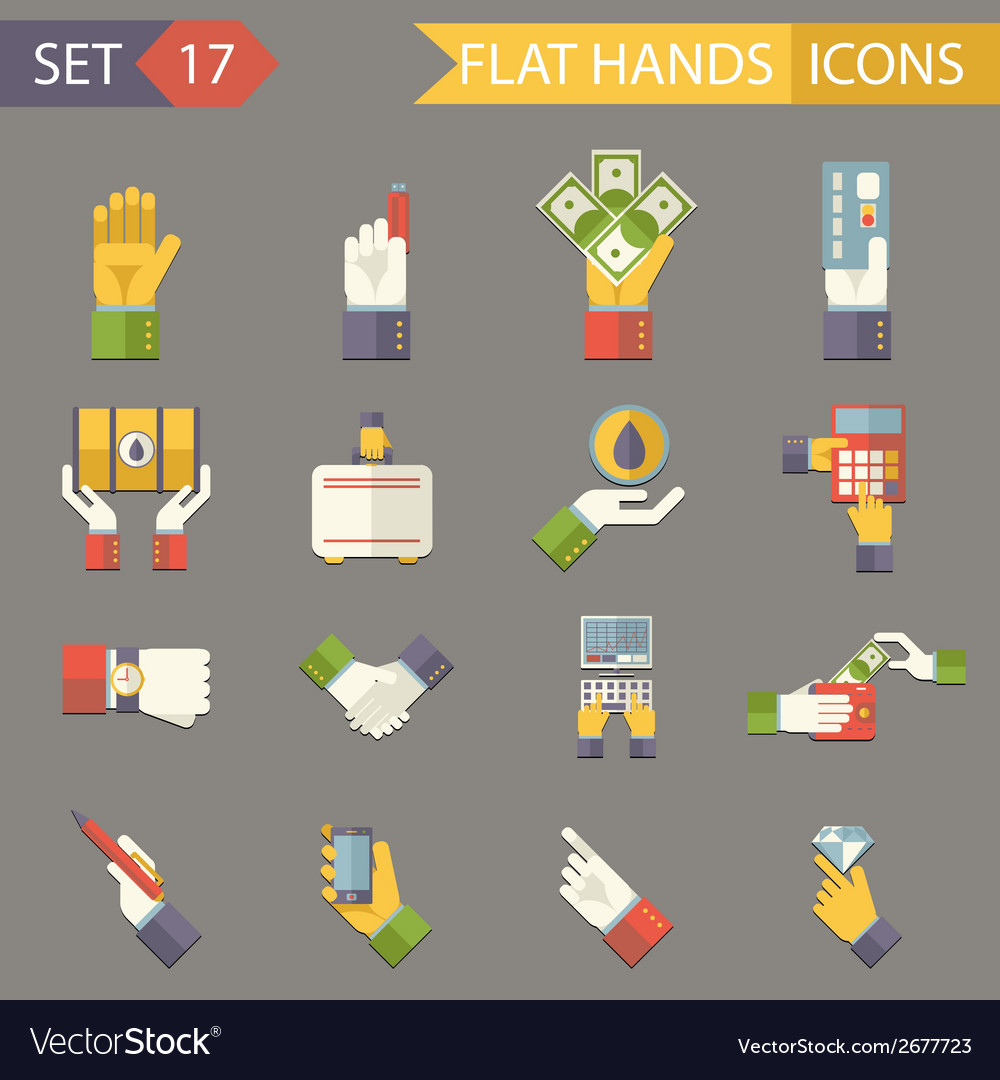 Retro business hands symbols finance accessories vector | Price: 1 Credit (USD $1)