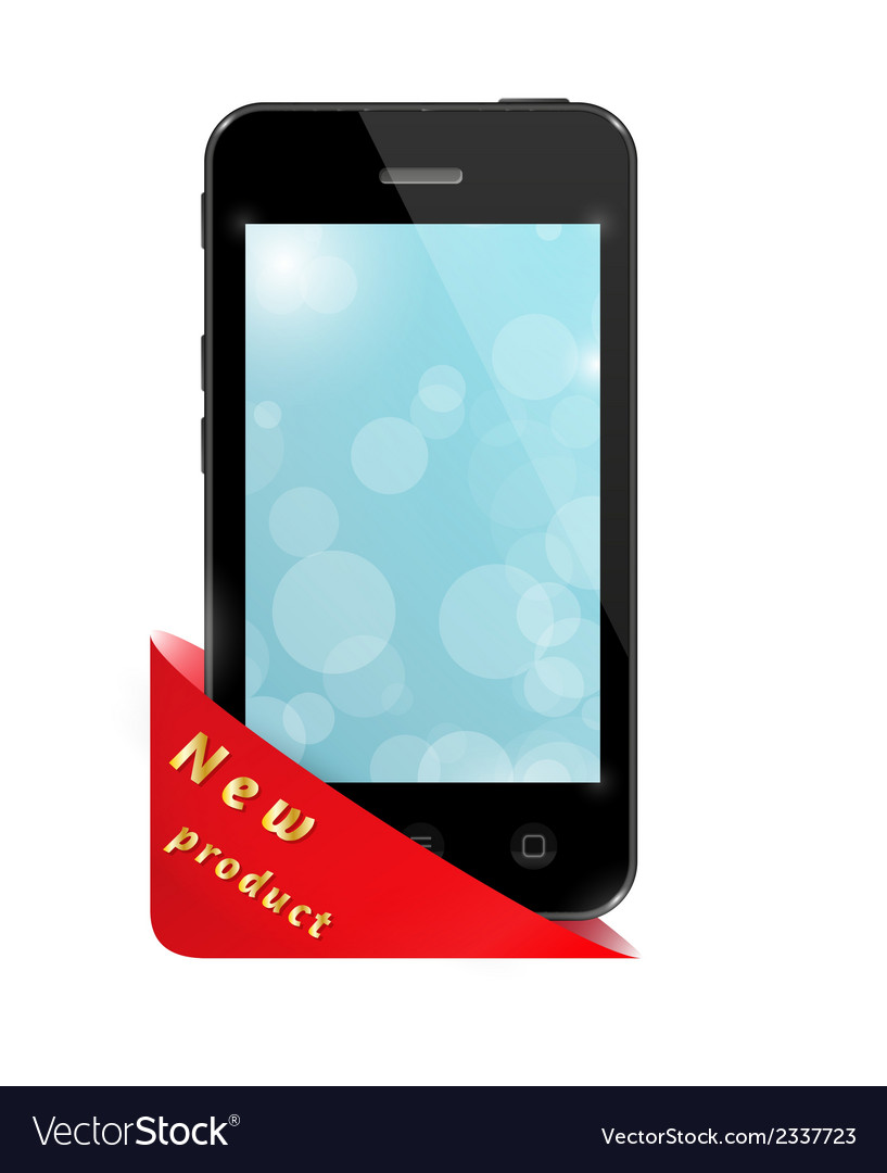 Triangle pocket with new product and smartphone vector | Price: 1 Credit (USD $1)