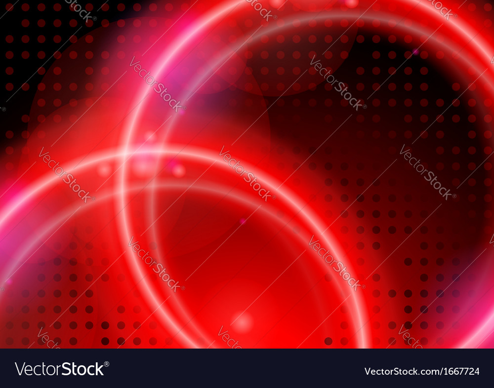 Abstract neon circles vector | Price: 1 Credit (USD $1)