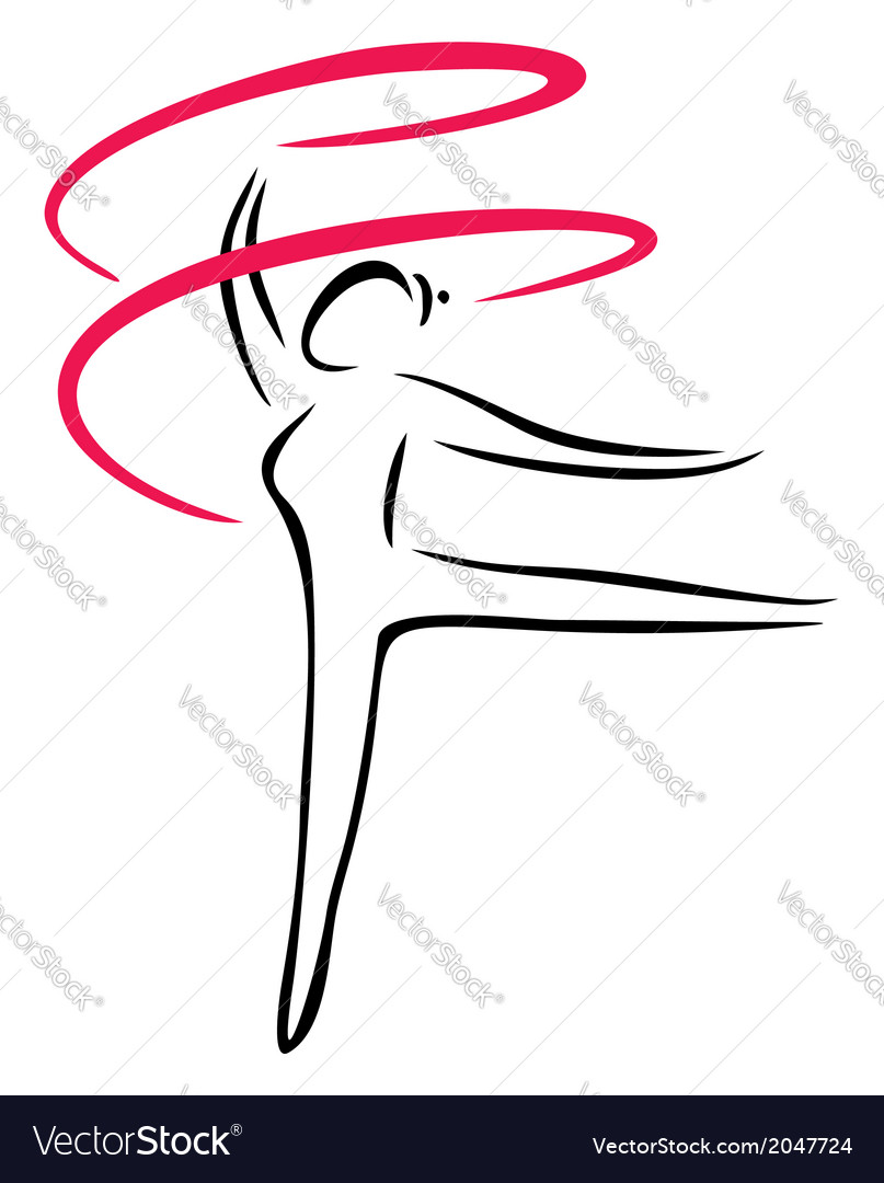 Artistic gymnastics vector | Price: 1 Credit (USD $1)