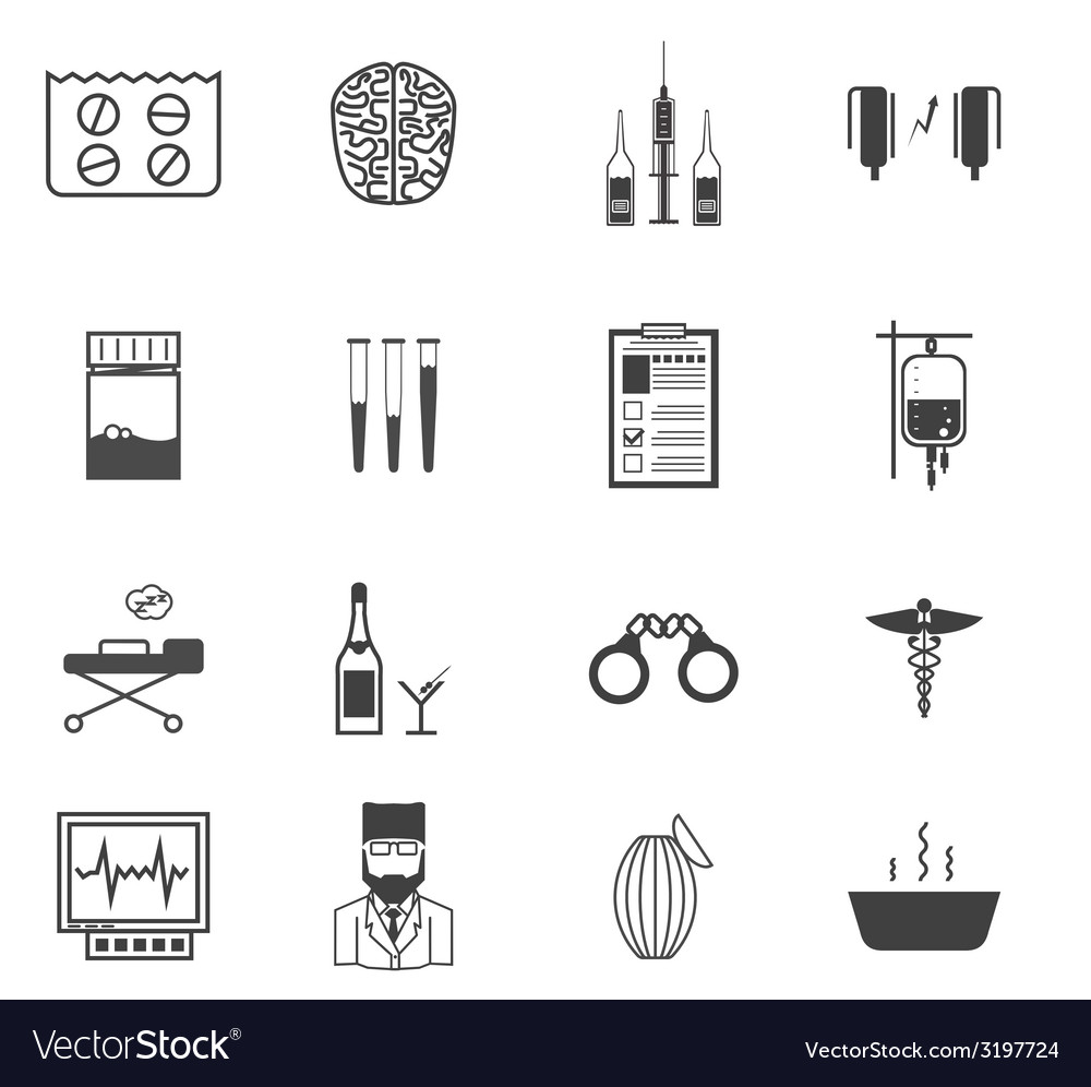 Black icons for the psychiatrist expert in vector | Price: 1 Credit (USD $1)