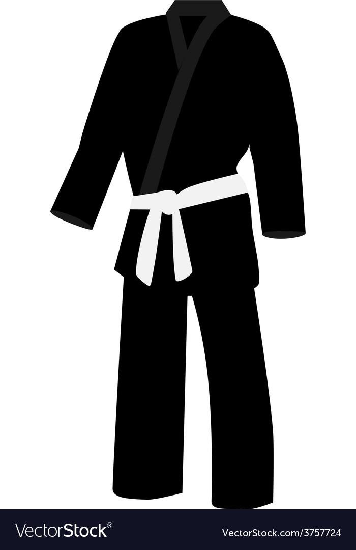 Black kimono vector | Price: 1 Credit (USD $1)