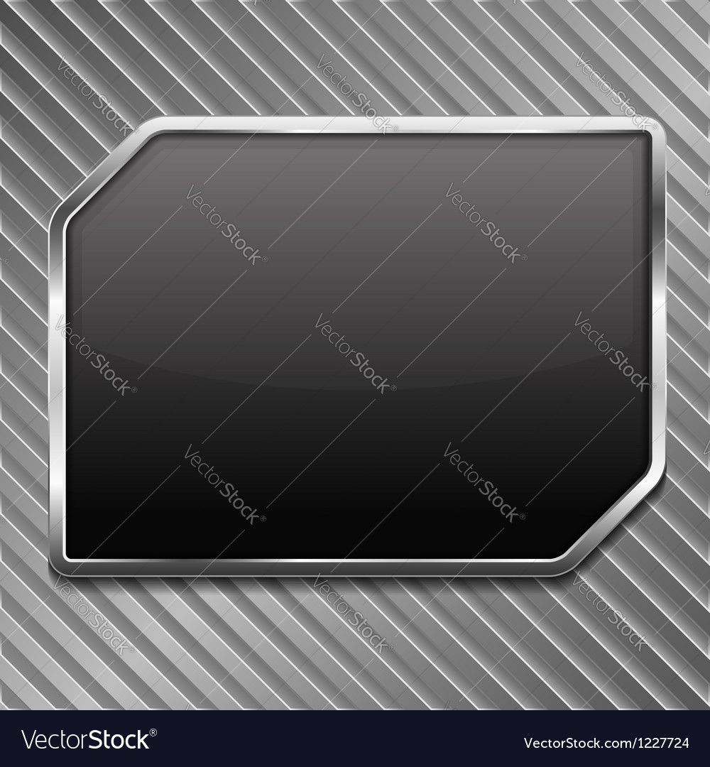 Black metallic frame vector | Price: 1 Credit (USD $1)