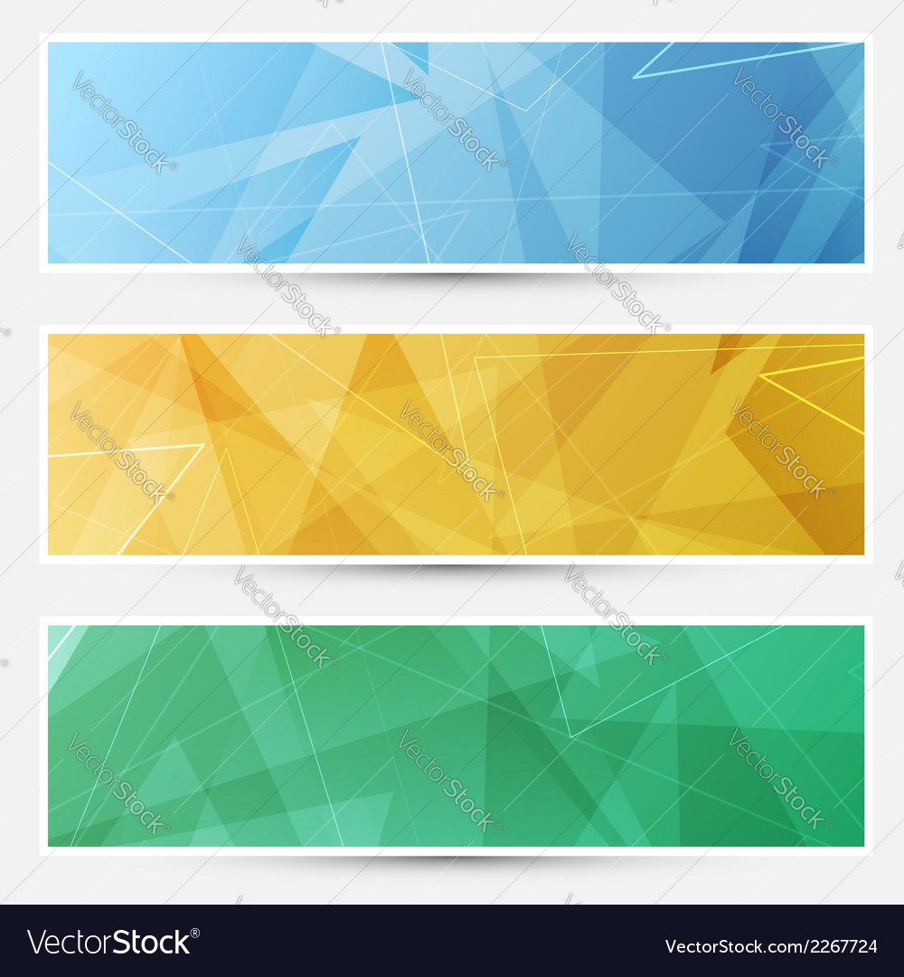 Collection of crystal structured cards vector | Price: 1 Credit (USD $1)