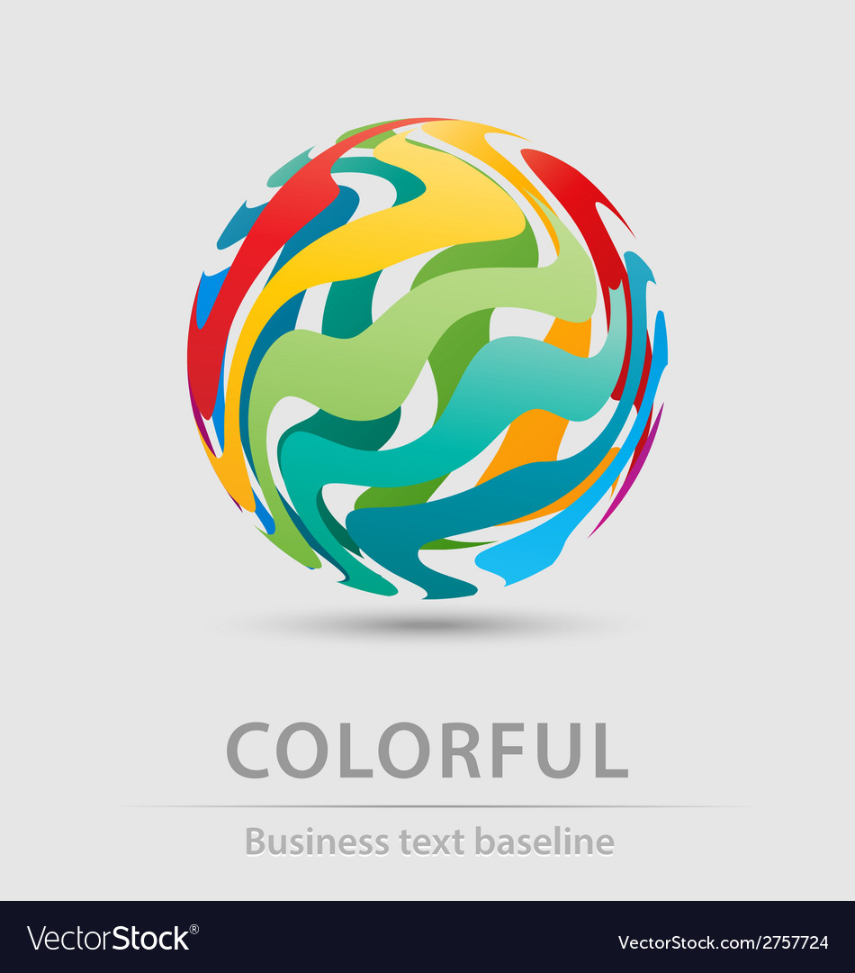 Colorful ball business icon vector | Price: 1 Credit (USD $1)