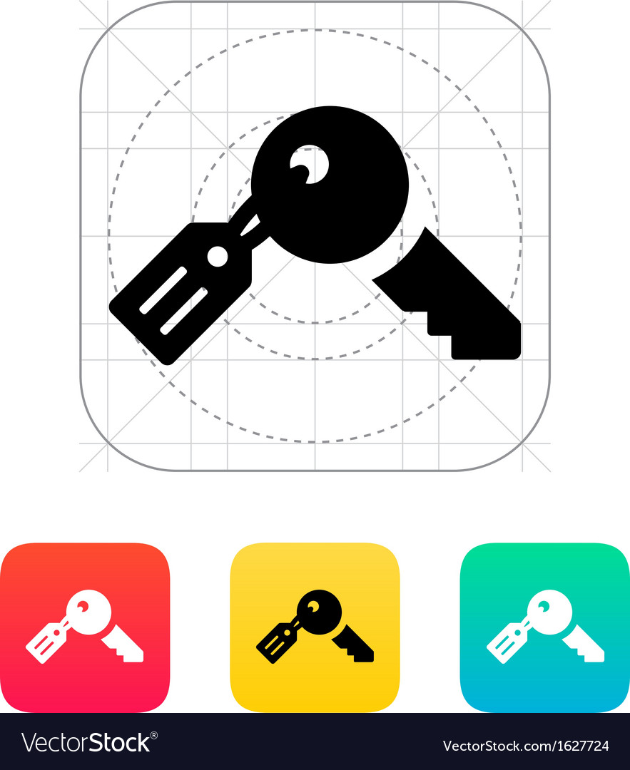 Key with label icon vector | Price: 1 Credit (USD $1)