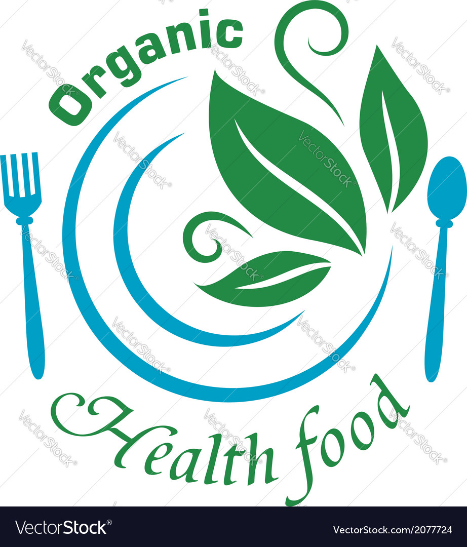 Organic health food icon vector | Price: 1 Credit (USD $1)