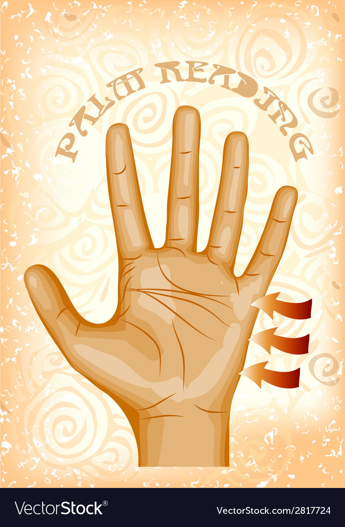 Palm reading vector | Price: 1 Credit (USD $1)