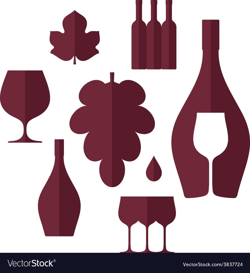 Wine set vector | Price: 1 Credit (USD $1)