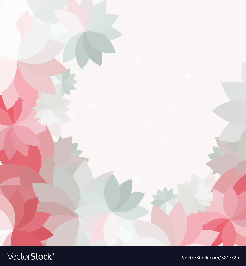 Abstract petal pink flower background vector | Price: 1 Credit (USD $1)