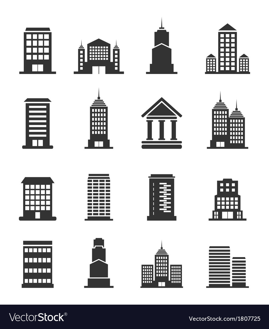 Building office an icon vector | Price: 1 Credit (USD $1)