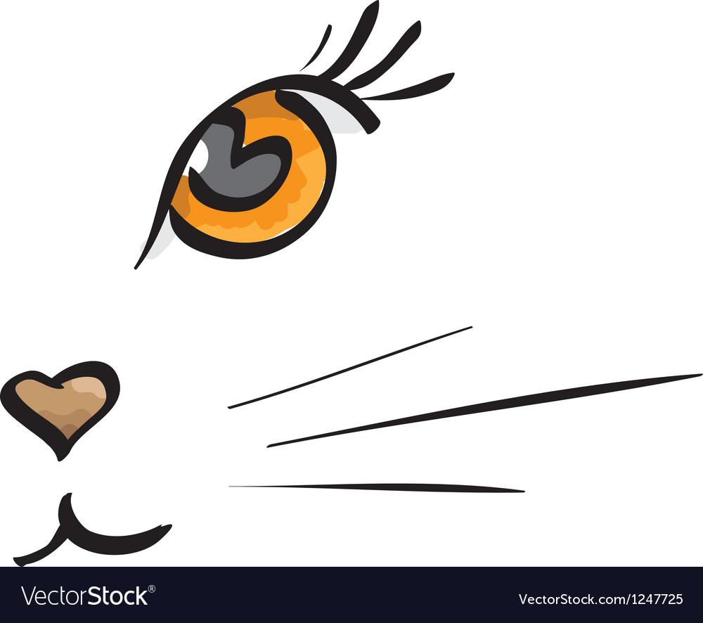 Cat muzzle vector | Price: 1 Credit (USD $1)