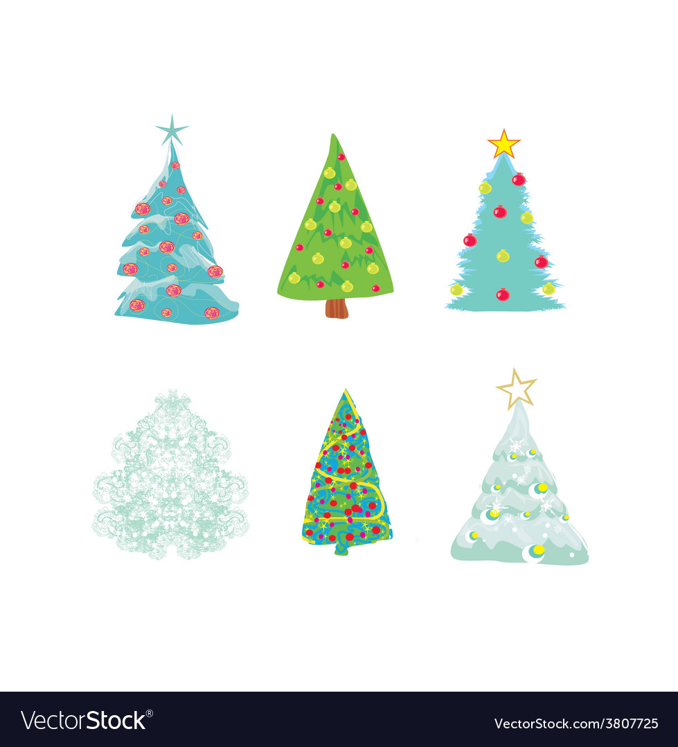 Christmas tree set vector   Price: 1 Credit (USD $1)