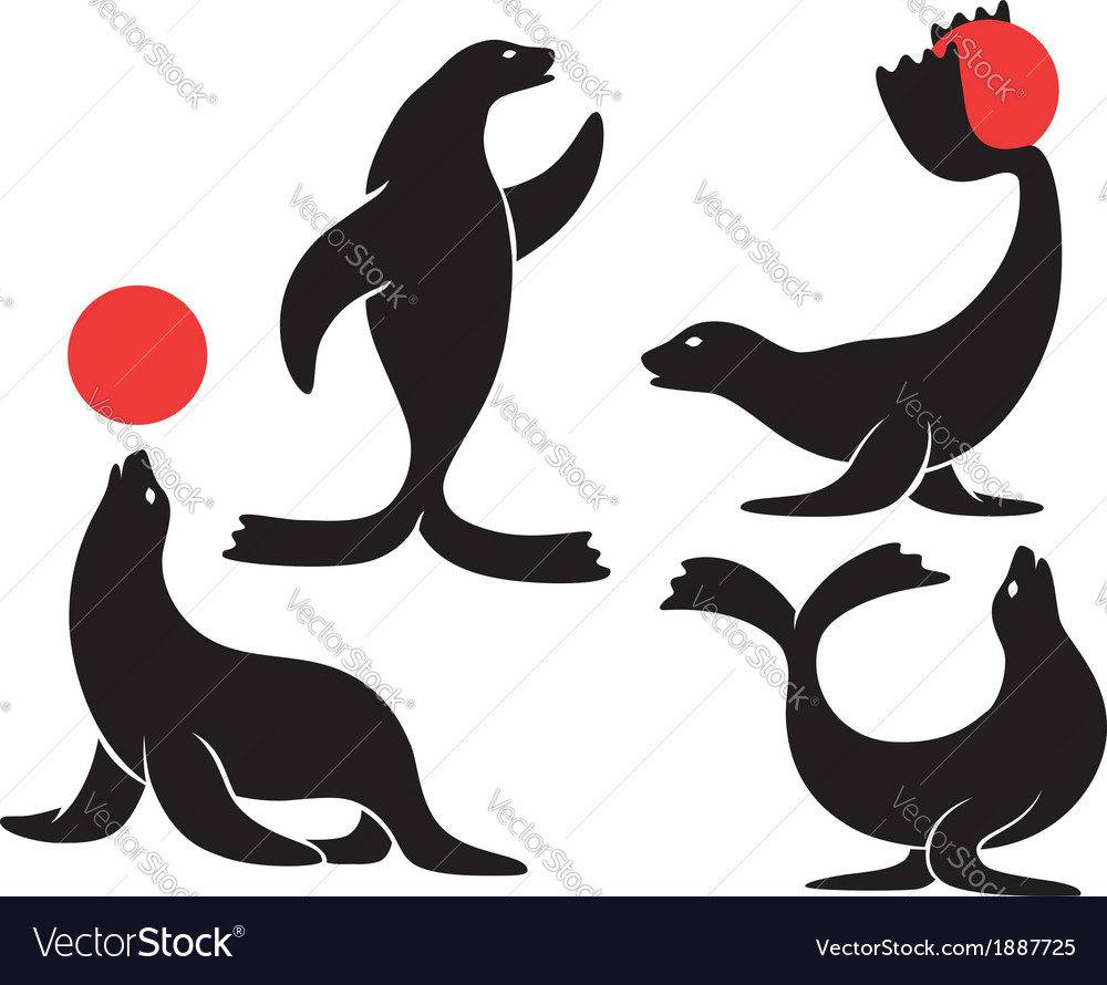 Circus seal vector | Price: 1 Credit (USD $1)
