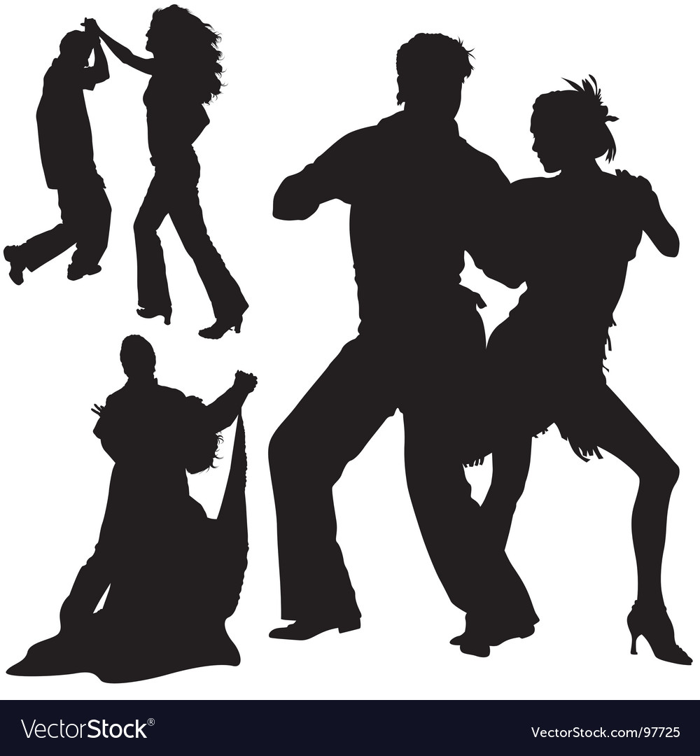 Dance silhouettes vector | Price: 1 Credit (USD $1)