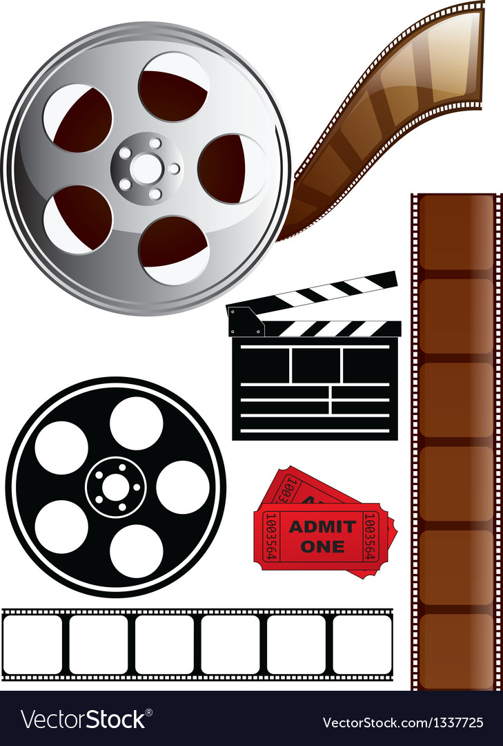 Film icon set vector | Price: 1 Credit (USD $1)