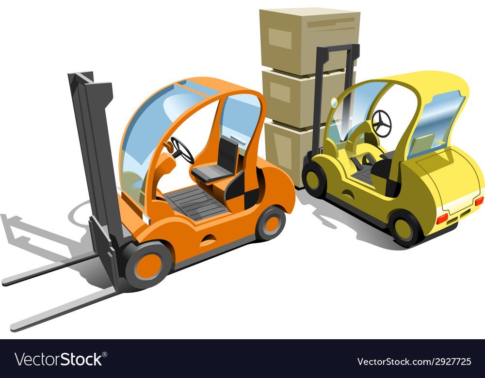 Forklift vector | Price: 3 Credit (USD $3)