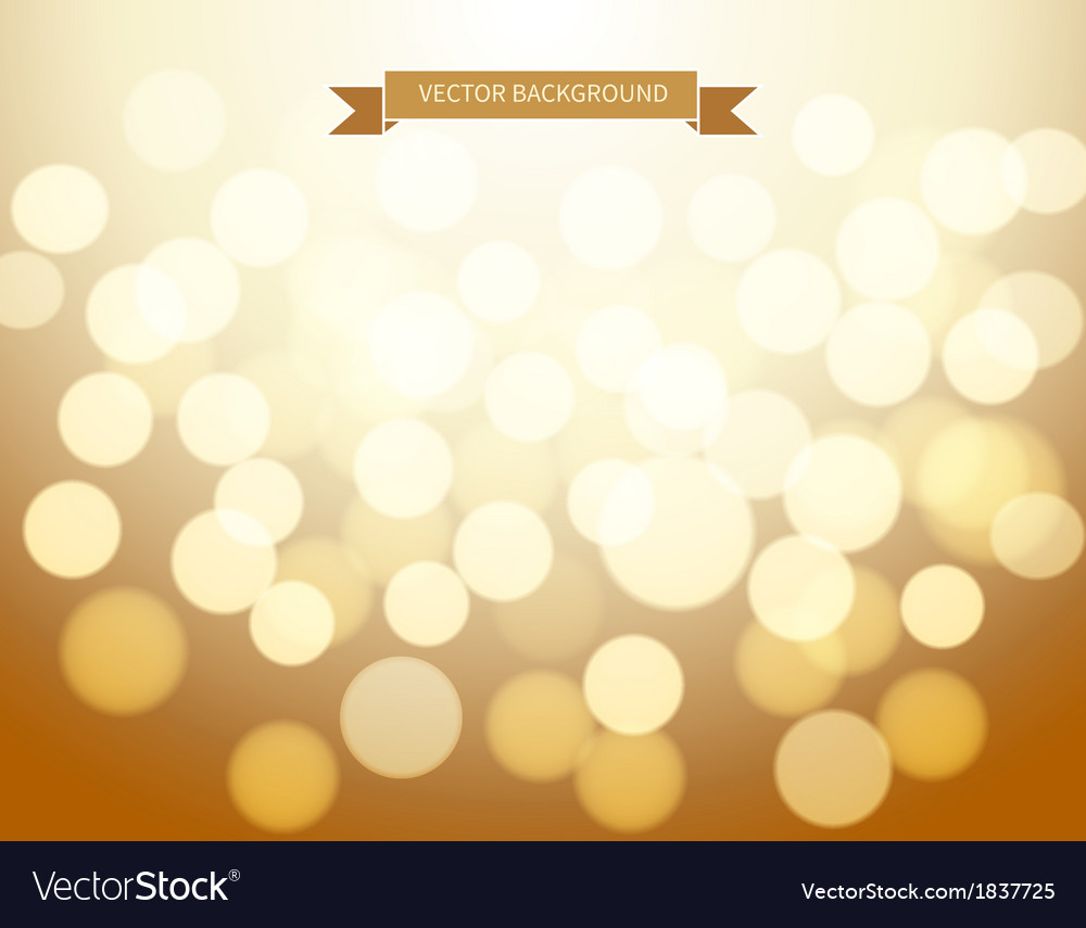 Gold bokeh background vector | Price: 1 Credit (USD $1)