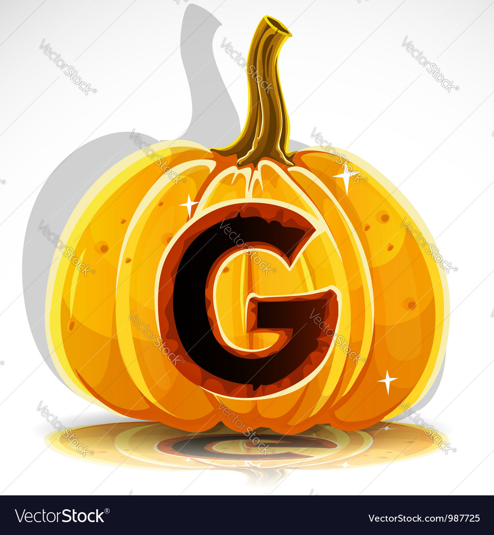 Halloween pumpkin g vector | Price: 1 Credit (USD $1)