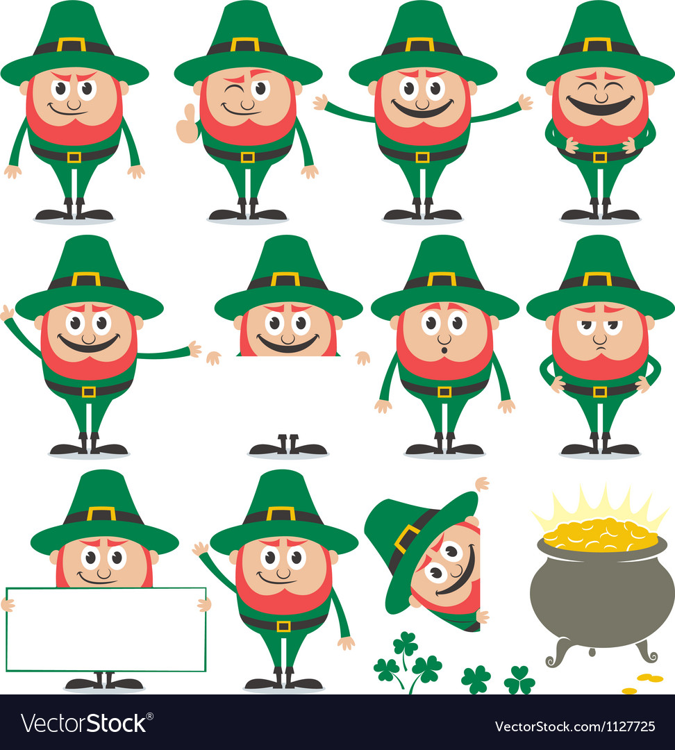 Leprechaun set vector | Price: 1 Credit (USD $1)