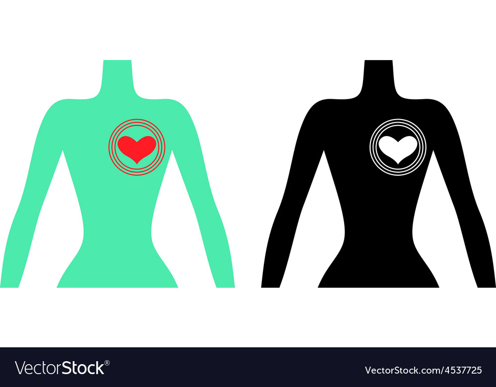 Man heart vector | Price: 1 Credit (USD $1)