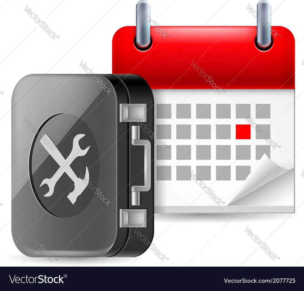 Repair and time icon vector | Price: 1 Credit (USD $1)
