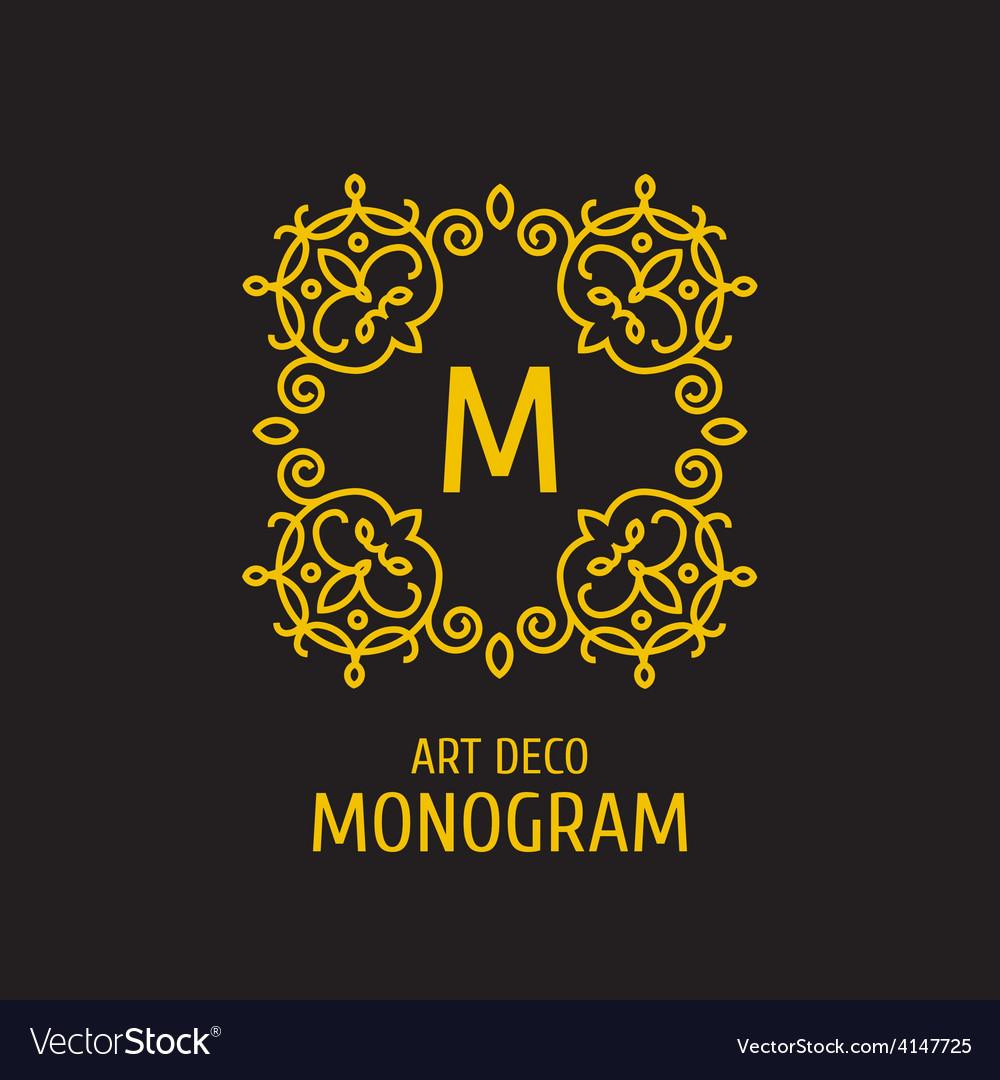 Vintage floral logo floral monogram design vector   Price: 1 Credit (USD $1)
