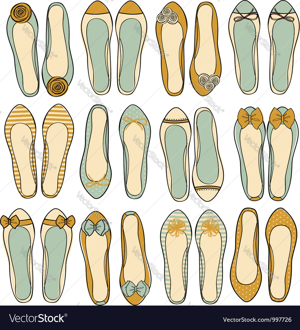 Ballerina shoes collection vector | Price: 1 Credit (USD $1)