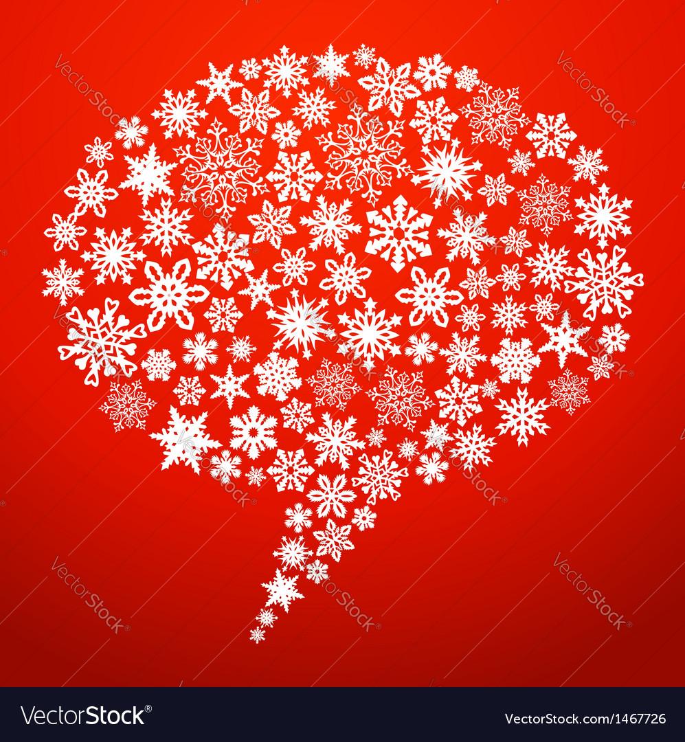 Christmas social media speech bubble vector | Price: 1 Credit (USD $1)