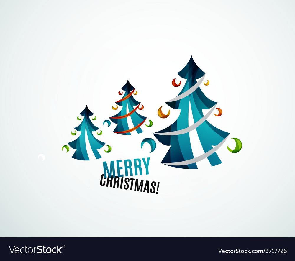 Christmas tree geometric design vector | Price: 1 Credit (USD $1)