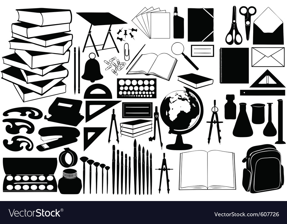 Different school objects vector | Price: 1 Credit (USD $1)