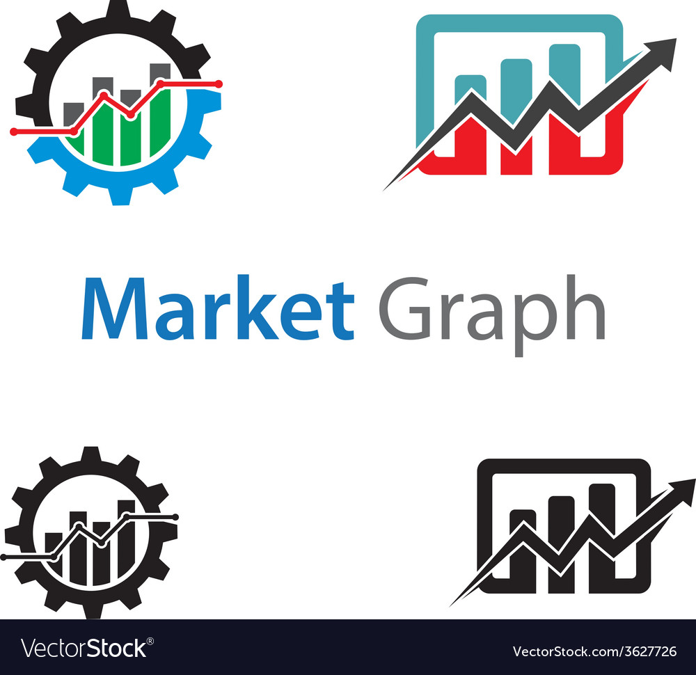 Market graph vector | Price: 1 Credit (USD $1)