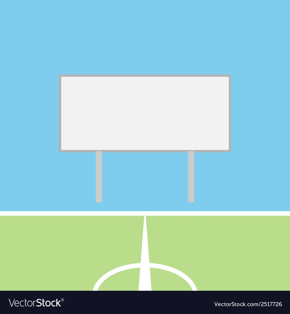 Soccer field with blank scoreboard vector | Price: 1 Credit (USD $1)