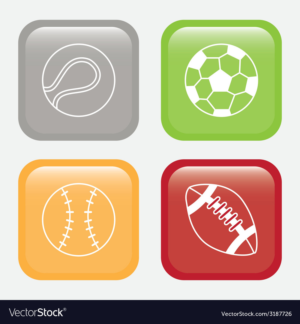 Sport balls design vector | Price: 1 Credit (USD $1)