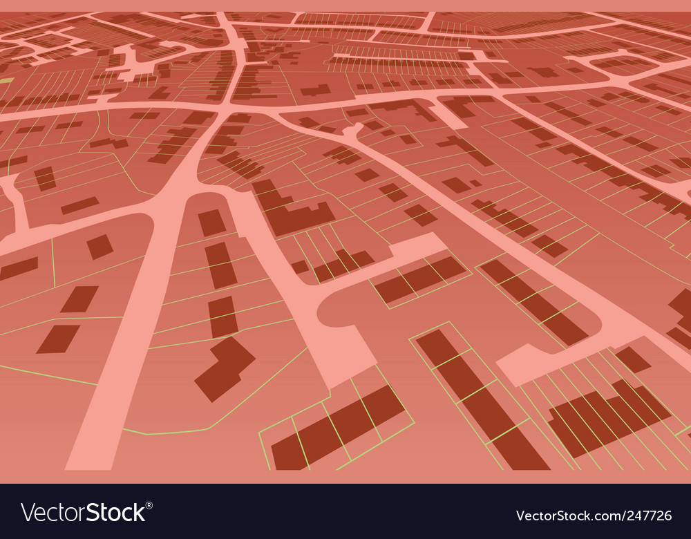 Streetmap perspective vector | Price: 1 Credit (USD $1)
