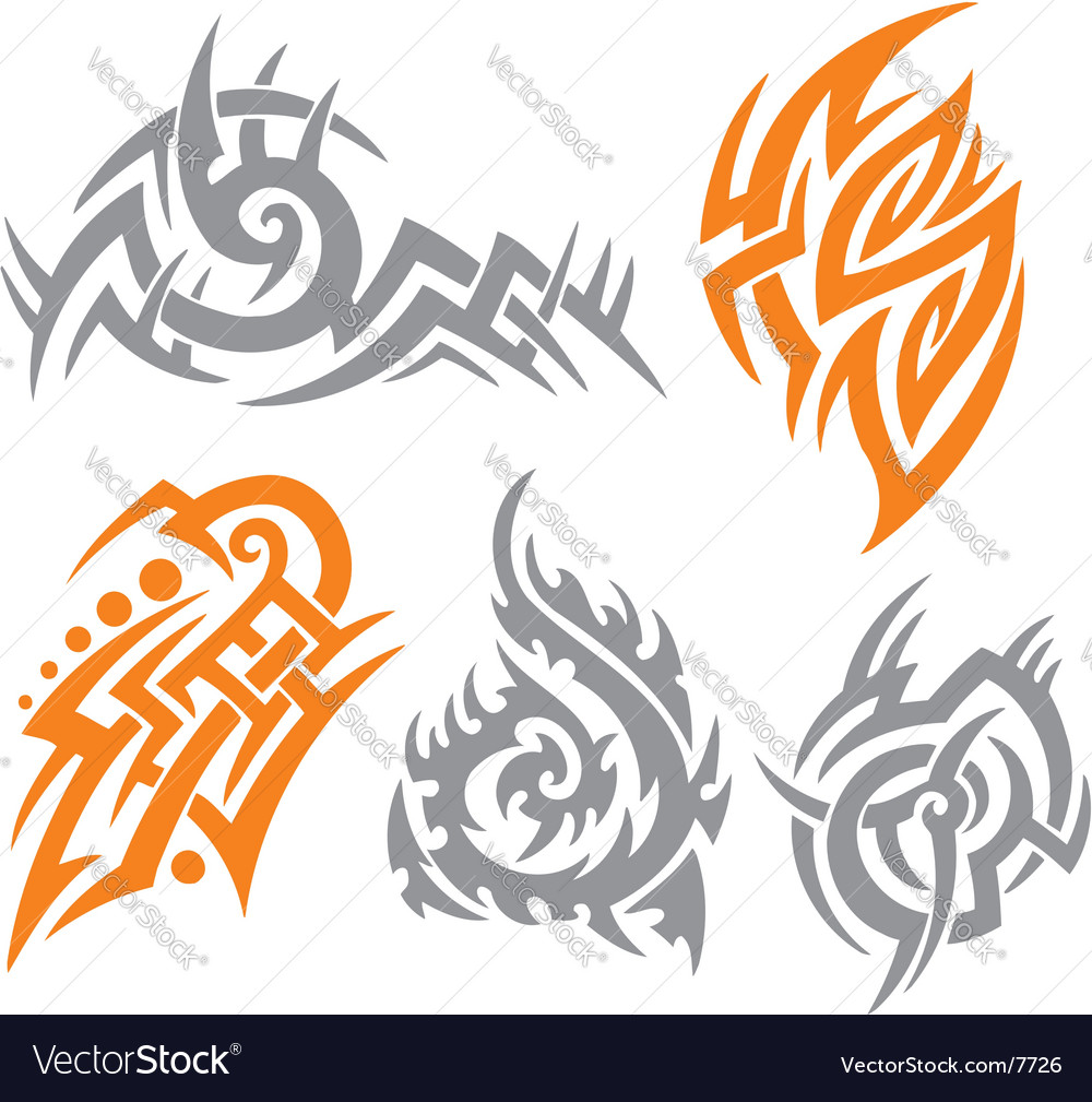 Tribal tattoo set vector | Price: 1 Credit (USD $1)