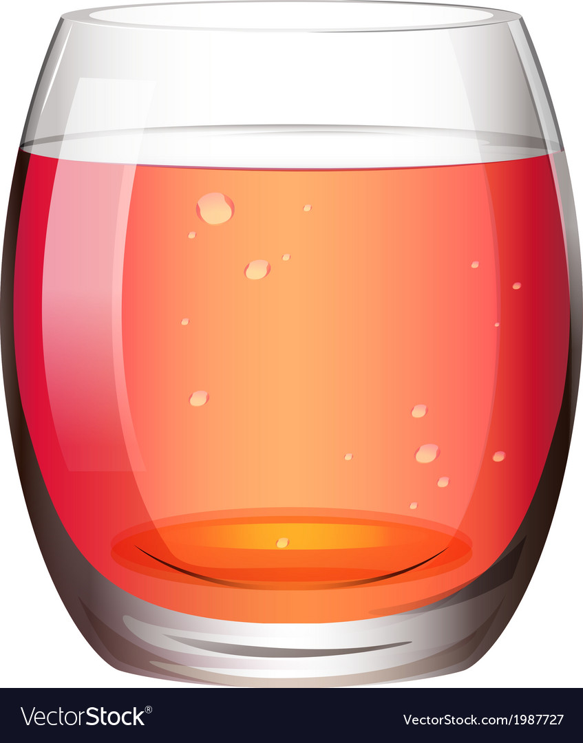 A clear drinking glass with juice vector | Price: 1 Credit (USD $1)