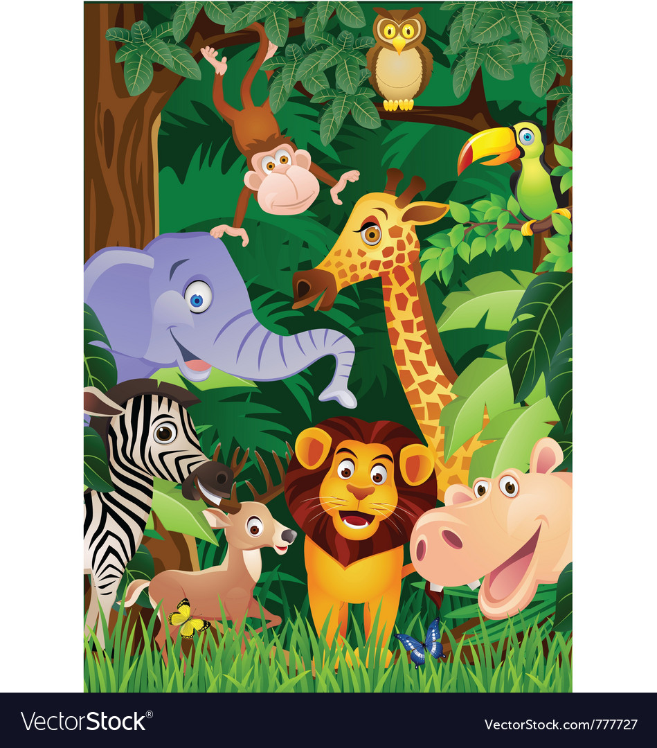 Animal cartoon vector | Price: 5 Credit (USD $5)