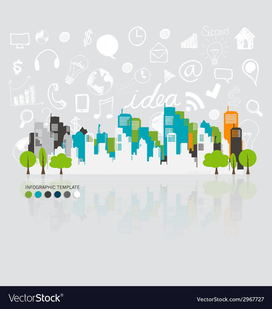 City with application icon modern template design vector | Price: 1 Credit (USD $1)