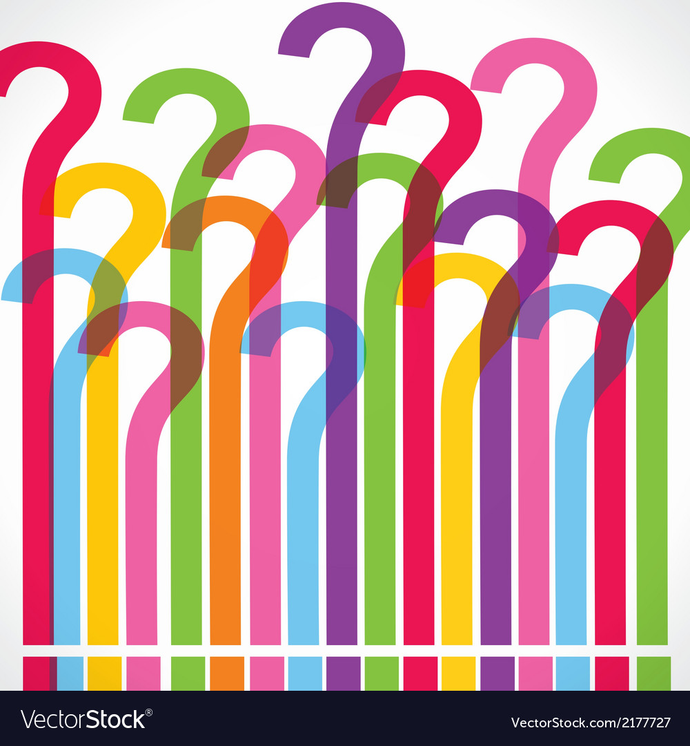 Colorful question mark background vector   Price: 1 Credit (USD $1)